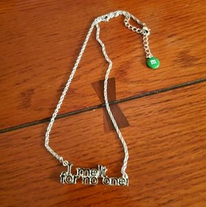 "M & M ""I Melt For No One"" Silver Necklace"